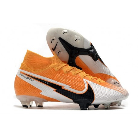 Nike Mercurial Superfly VII Elite Dynamic Fit FG Arancione Nero Bianco