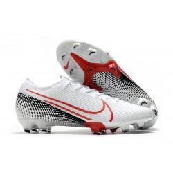 Nike Scarpe da Calcio Mercurial Vapor 13 Elite FG ACC Bianco Cremisi Laser Nero