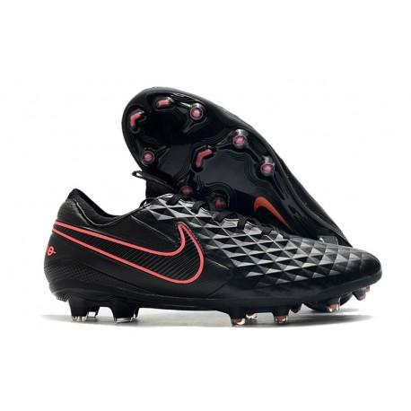 Nike Tiempo Legend 8 Elite FG Scarpa da Calcio Nero Rosa