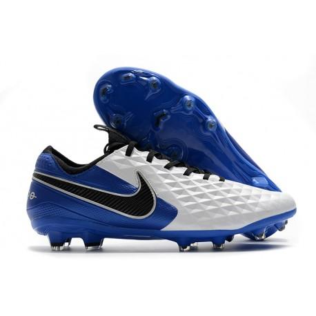 Nike Tiempo Legend 8 Elite FG Scarpa da Calcio Bianco Blu Nero