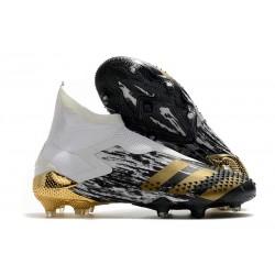 Scarpe adidas Predator Mutator 20+ FG Bianco Nero Oro