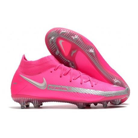 Nike Phantom GT Elite Dynamic Fit FG scarpa da calcio uomo Rosa Argento