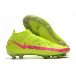 Nuovo Scarpe Nike Phantom GT Elite DF FG Verde Rosa