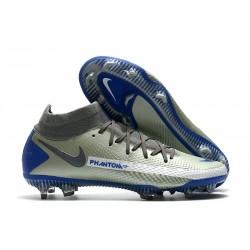 Nuovo Scarpe Nike Phantom GT Elite DF FG Argento Blu