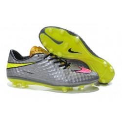 Scarpe calcio Nike HyperVenom Phantom FG - Uomo - Argenteo Rosa Giallo Nero