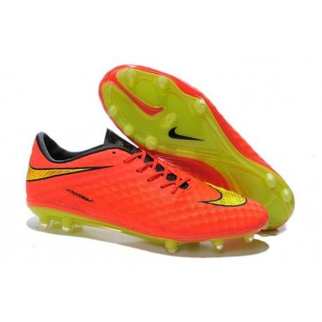 Nuove Scarpa da calcio per terreni duri Nike HyperVenom Phantom FG - Arancione Volt Nero