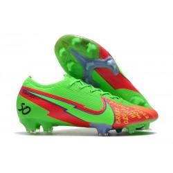 Scarpe Nike Mercurial Vapor 13 Elite FG Verde Rosso