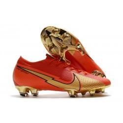 Scarpe Nike Mercurial Vapor 13 Elite FG Ronaldo CR100 Rosso Oro