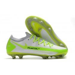 Scarpe 2021 Nike Phantom GT Elite FG Bianco Verde