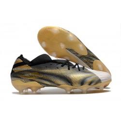 adidas Scarpe Calcio Nemeziz 19.1 FG - Bianco Oro Metallico Nero Core