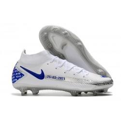 Nuovo Scarpe Nike Phantom GT Elite DF FG Bianco Blu