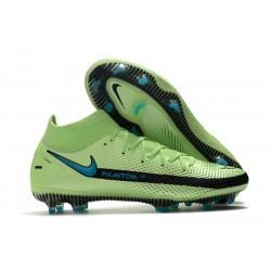 Nuovo Scarpe Nike Phantom GT Elite DF FG Verde Nero