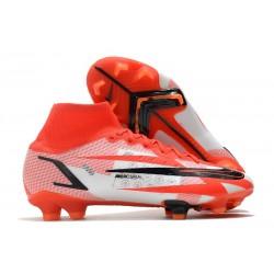 Nike Ronaldo Superfly 8 Spark Positivity CR7 Elite FG Rosso Bianco Nero