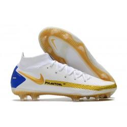 Nike Phantom GT Elite DF FG Bianco Oro Blu