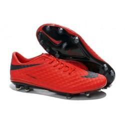 Nike HyperVenom Phantom FG Scarpa da calcio per terreni duri - Uomo Rosso Nero