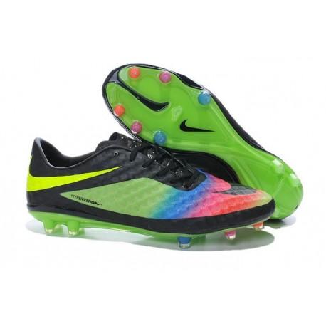 2015 Scarpa da calcio Nike HyperVenom Phantom FG Verde Nero Giallo Rosa Blu
