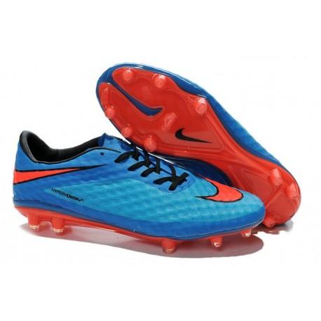 2015 Scarpa da calcio Nike HyperVenom Phantom FG Blu Rosso Nero