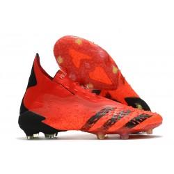 Scarpa Calcio adidas Predator Freak+ FG Rosso Nero Core Rosso Solare