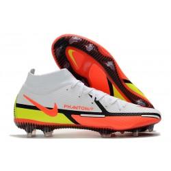 Scarpa Nike Phantom GT2 Elite DF FG Bianco Cremisi Vivace Volt