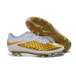 Scarpe calcio Nike HyperVenom Phantom FG - Uomo - Bianco Oro