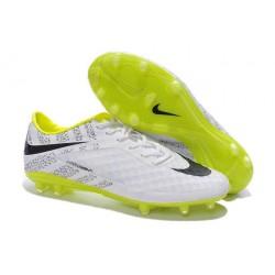 Nuove Scarpa da calcio per terreni duri Nike HyperVenom Phantom FG - Nero Bianco Giallo