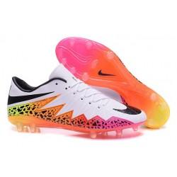Nuove Scarpa da calcio per terreni duri Nike HyperVenom Phantom FG - Bianco Nero Rosa