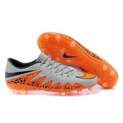 Scarpa da calcio Nike HyperVenom Phantom FG Uomo Nero Grigio Arancione