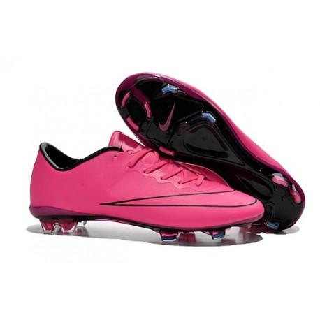 Nike Mercurial Vapor FG Scarpa da calcio per terreni duri - Uomo Rosa Nero