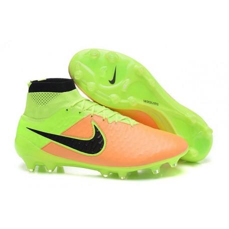 Scarpe calcio Nike Magista Obra FG - Uomo - Pelle Canvas Nero Volt