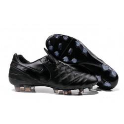 Nuove Scarpe Calcio Nike Tiempo Genio Leather FG tutto Nero