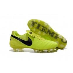 Nuove Scarpe Calcio Nike Tiempo Genio Leather FG Volt Nero