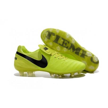 huge discount 89232 be940 Nuove Scarpe Calcio Nike Tiempo Genio Leather FG Volt Nero