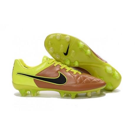 Scarpe Calcio Nike Tiempo Legend V FG - Uomo Canvas Nero Volt