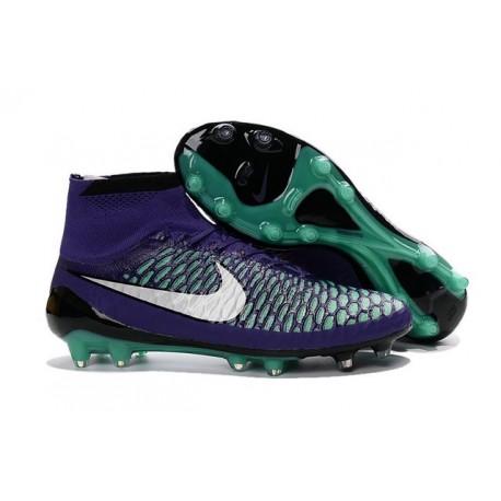 Scarpe calcio Nike Magista Obra FG - Uomo - Verde Viola Nero Bianco