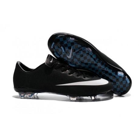 Nike Mercurial Vapor FG Scarpa da calcio per terreni duri - Uomo Nero Bianco
