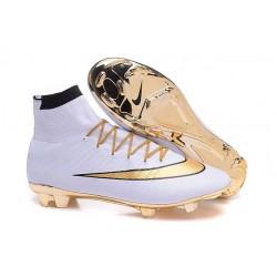 Scarpa da calcio per terreni duri Nike Mercurial Superfly - Oro Nero Bianco