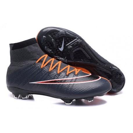 2016 Scarpa da calcio per terreni duri Nike Mercurial Superfly - Uomo Nero Arancione Bianco