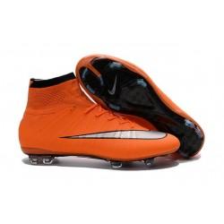 Nuove Scarpe calcio Nike Mercurial Superfly FG - Arancione Argenteo Nero