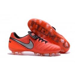 2016 Scarpa da calcio per terreni duri Nike Tiempo Legend VI - Uomo Arancione Nero Grigeo