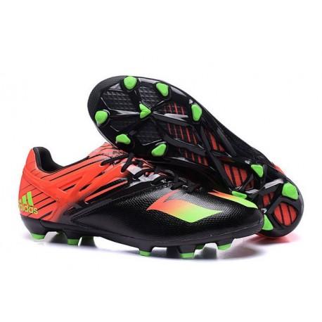 Adidas Messi 15.1 FG scarpe da calcio Uomo - Nero Verde Solar Rosso Solar