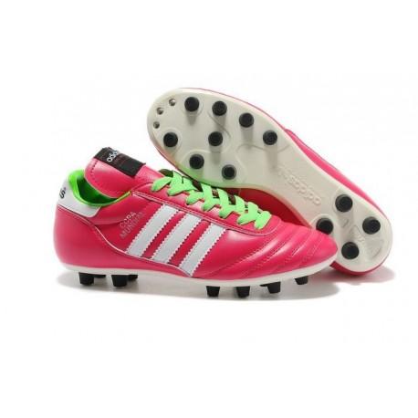 Nuove Adidas Scarpe calcio Copa Mundial Leather Rosa Verde Bianco