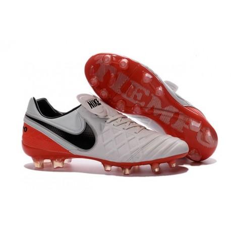 2016 Scarpa da calcio per terreni duri Nike Tiempo Legend VI - Uomo Bianco Rosso Nero