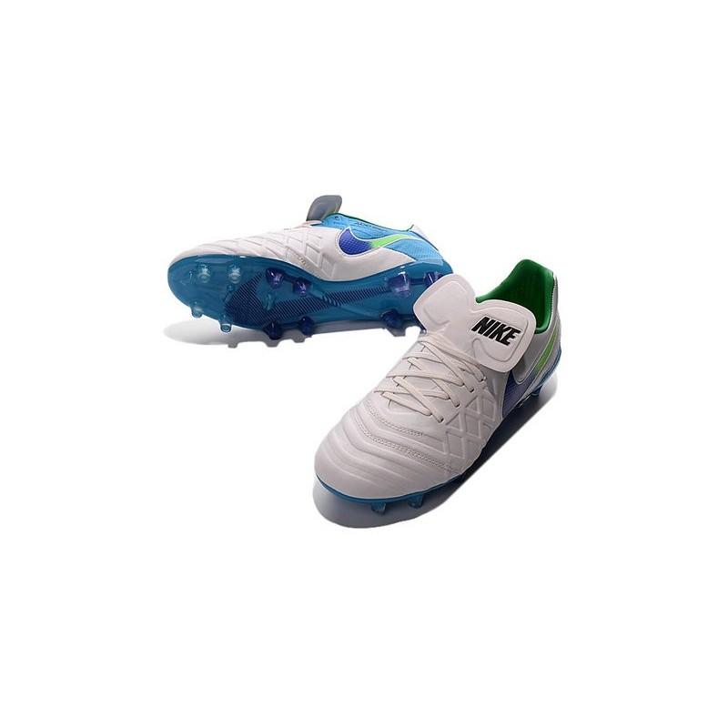 Nuove Scarpe Bianco Leather Blu Tiempo Verde Fg Genio Calcio Nike rrqwdOS