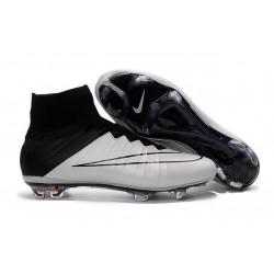 Scarpa da calcio per terreni duri Nike Mercurial Superfly - Pelle Bianco Nero
