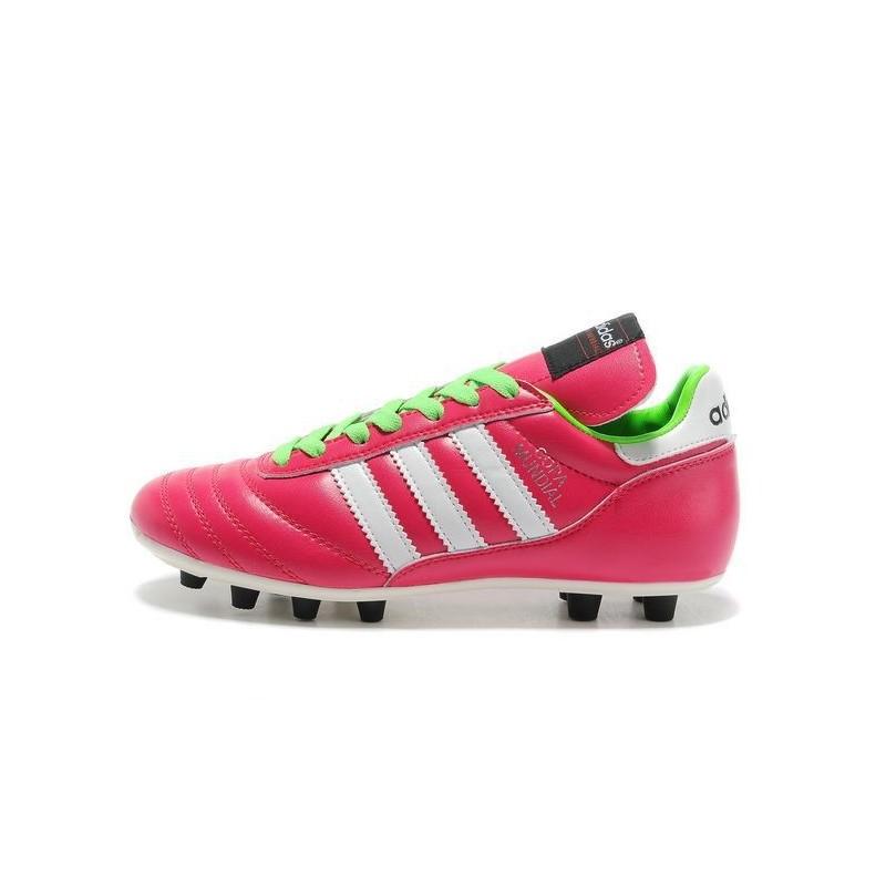 online retailer abda8 1262e Nuove Adidas Scarpe calcio Copa Mundial Leather Rosa Verde Bianco