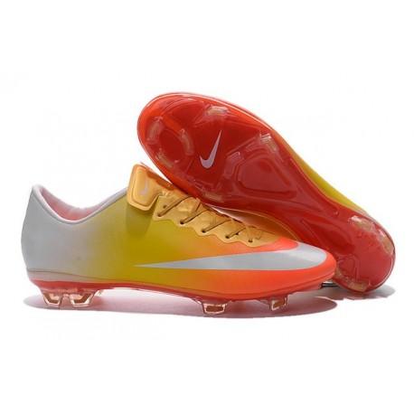 2015 Scarpa da calcio per terreni duri Nike Mercurial Vapor X - Uomo Arancione Oro Giallo