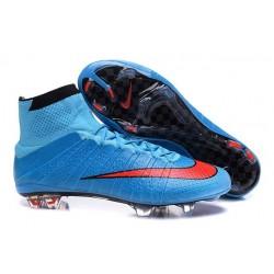 2016 Scarpe calcio Nike Mercurial Superfly FG - Uomo - Blu Rosso Nero