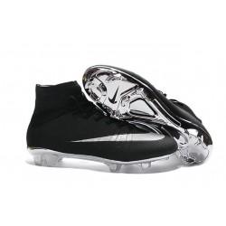 Nuove Scarpe calcio Nike Mercurial Superfly FG - Argento Nero