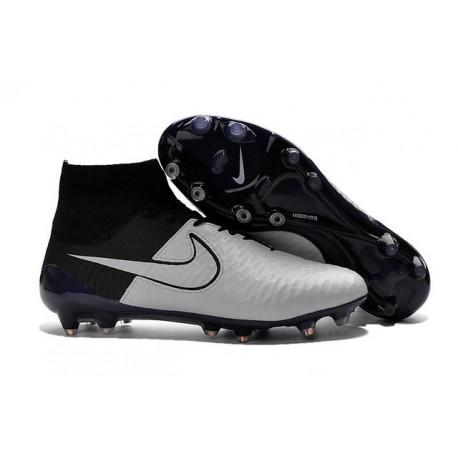 Nuove Nike Magista Obra Fg, Scarpe da calcio uomo Pelle Osso Chiaro Nero