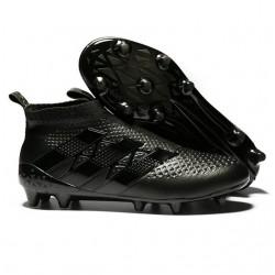 Nuovi Scarpette da Calcio Adidas Ace 16+ Purecontrol FG / AG Tutto Nero
